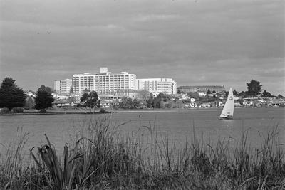 Waikato Hospital and Hamilton Lake