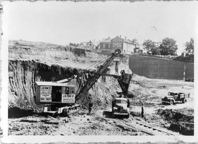 Excavation of Garden Place hill