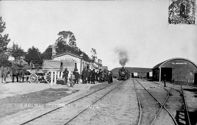 The Railway station at Te Awamutu