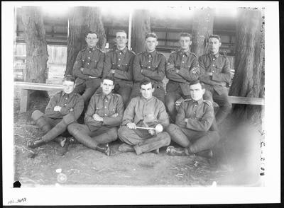 Group of men in army uniform