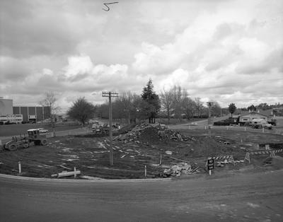 Hamilton city roundabout underconstruction