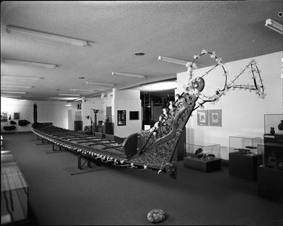 Te Winika Canoe at Waikato Art Museum