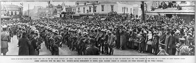 World War One - Parade of Maori soldiers from Narrow Neck's Camp