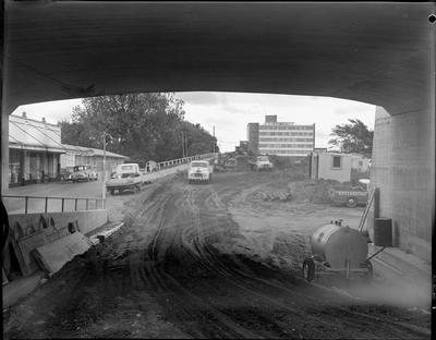 Claudelands Bridge - road construction