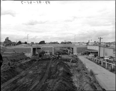 Claudelands Bridge - road construction
