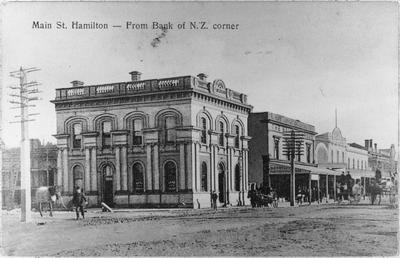 BNZ corner Victoria Street and Hood Street, Hamilton