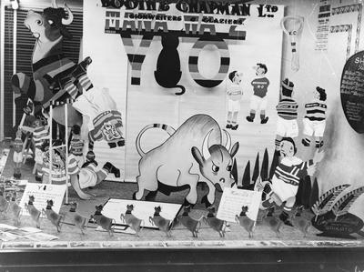Booth & Chapmans, Hamilton - Mooloo/Ranfurly Shield window display
