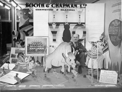 Booth & Chapman - Ranfurly Shield window display