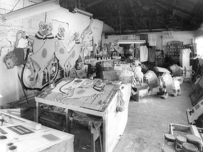 """W R Hawkins - Booth & Chapman display workshop """"Mooloo Factory"""""""