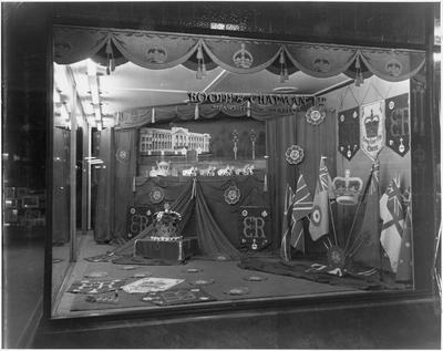 Booth & Chapman - window display - Royal visit