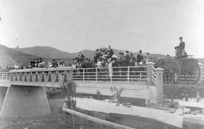 Opening of bridge over Waikato River, Ngaruawahia