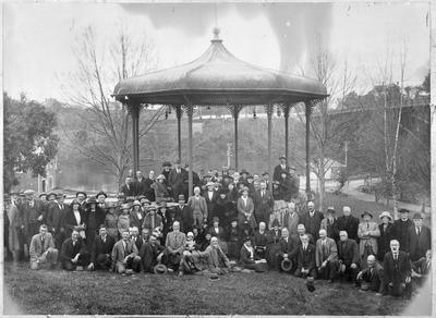 Hamilton Borough Council and Hamilton Beautifying Society at the band rotunda