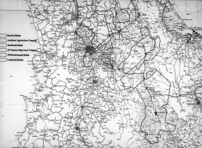 Map - large estates - Waikato