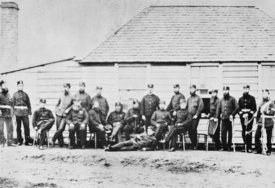 Group of 68th officers, Tauranga - NZ history campaigns