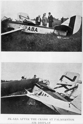 ZK-ABA after the crash at Palmerston air display