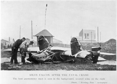 Miles Falcon after fatal crash