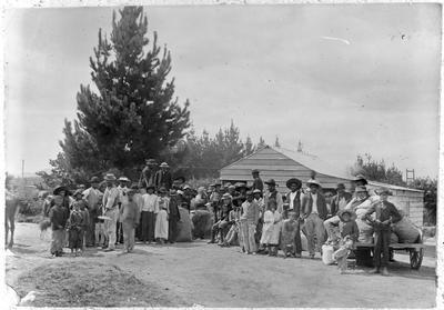 Maori gathering (at Te Kowhai?)