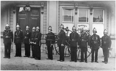 Hamilton Fire Brigade outside the Town Hall