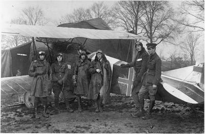 85th Squadron with captured German Fokker DVll - World War ll