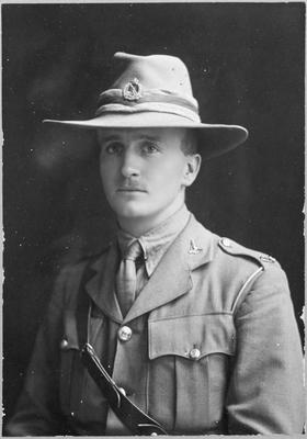 Keith Hunter in uniform, London, World War l