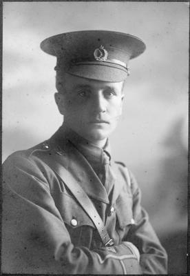 Keith Hunter in uniform, Hamilton