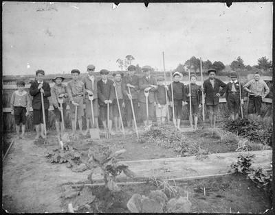 Te Kowhai School garden - Harkstone