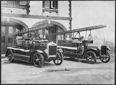 Hamilton Fire Brigade - engines and station , Anglesea Street