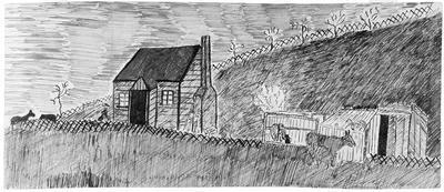 Sketch - First cottage, Kirikiriroa