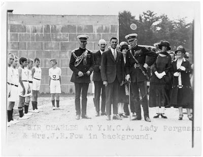 Sir Charles and Lady Fergusson at YMCA - see 953