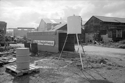 Freight yard near Frankton railway sidings