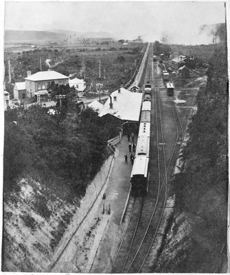 Mercer Station before the 1899 fire