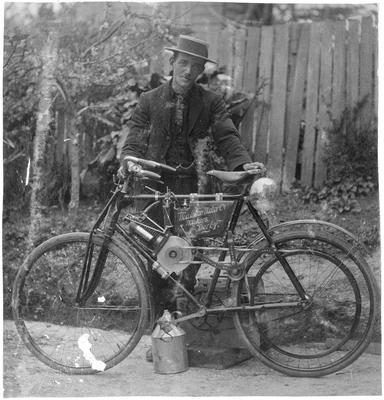 Motorised bicycle - Frank Roberts