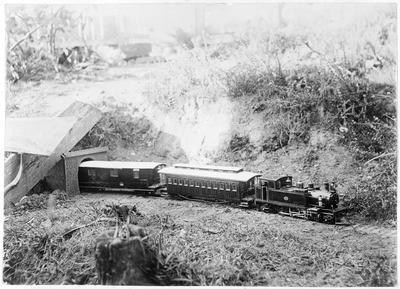RSR miniature railway - Wa 228 with carriage and van