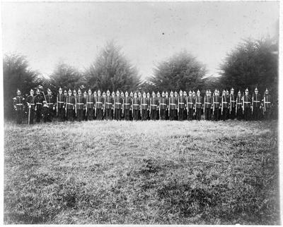 Waikato Regt - Major Reid 2nd on left