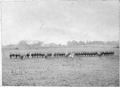 Section Boer War Co. in Auckland - Maor Reid on white horse
