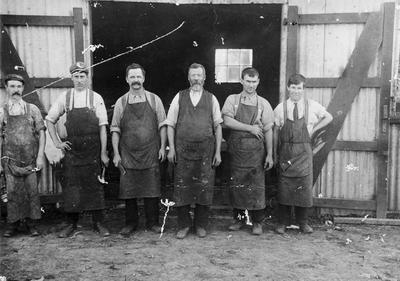 Staff of Thomas Slade's smithy