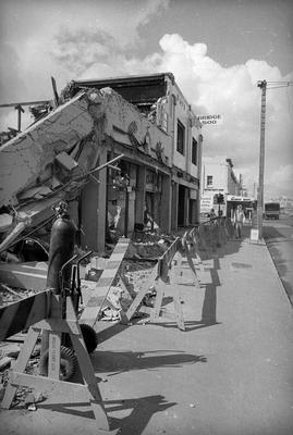 Demolition of buildings destroyed by the Bryce Street Market fire