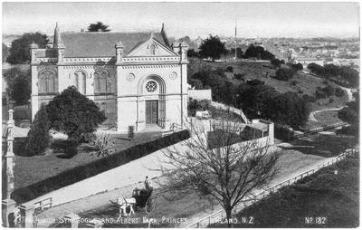The Jewish Synagogue and Albert Park, Princess Street, Auckland