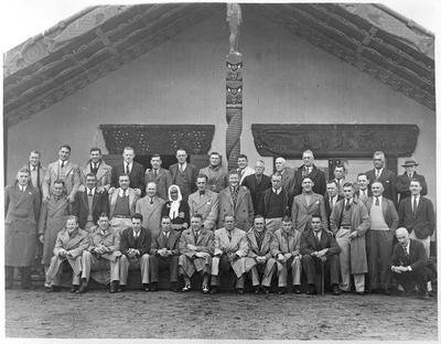 Te Puea with British League team - Ngaruawahia