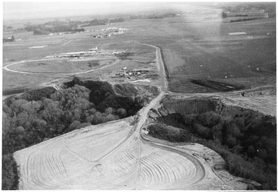Aerial shots - Hamilton Airport construction, Rukuhia