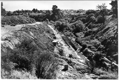 Early stages of construction of culvert Waitawhirirwhiri stream