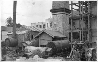 Replacing chimney - Waikato hospital