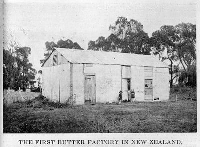 Butter factory at Pukekura, Cambridge