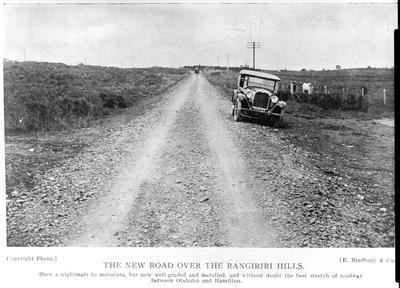 The new road over the Rangariri Hills