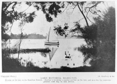 Sailing on Lake Rotoroa 1925