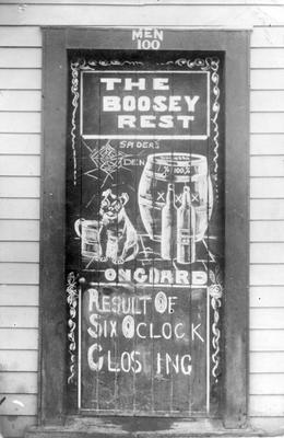 The Boosey Rest - The result of 6 o'clock closing