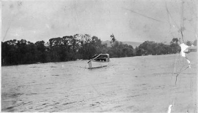 Unknown boat on river