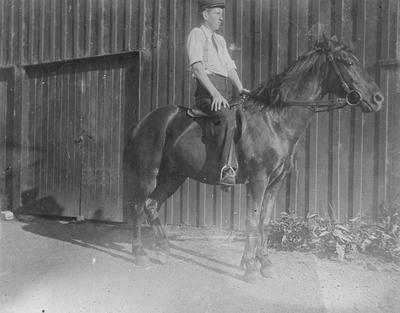 William Alexander Gordon on horse