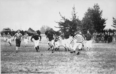 Rugby match, Steele Park
