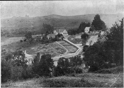 Mercer - a panoramic view of school and grounds